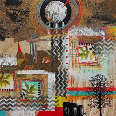 Circle Mixed Media - Good Energy  by Laura Lein-Svencner