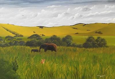 Painting - Good Evening Chyulu by Hilton Mwakima