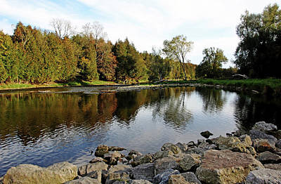 Ethereal - Good Fishing Spot On The Grand River by Debbie Oppermann