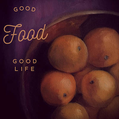Painting - Good Food Good Life Eat Clean Art Canvas by Michele Carter