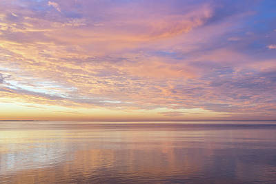 Photograph - Good For The Soul - Marveling Dazzling Sunrise Colours On The Lakeshore by Georgia Mizuleva