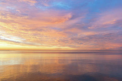 Photograph - Good For The Soul - Mesmerizing Sunrise Clouds Over Lustrous Waters by Georgia Mizuleva