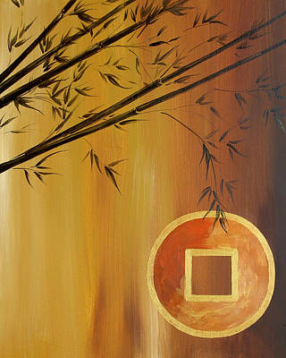 Art Print featuring the painting Good Fortune Bamboo 2 by Dina Dargo