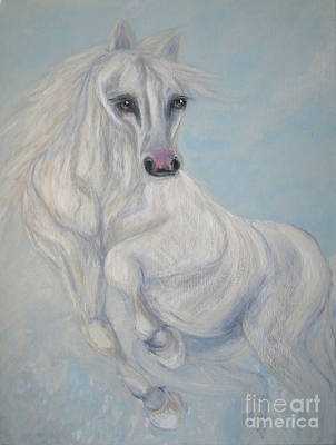 Painting - Good Fortune. Horse. Acrylic Painting On Canvas by Oksana Semenchenko