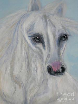 Painting - Good Fortune. Horse Face by Oksana Semenchenko
