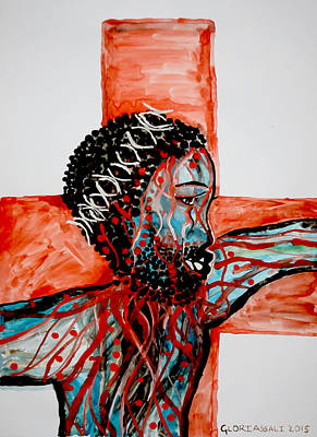 Painting - Good Friday  by Gloria Ssali