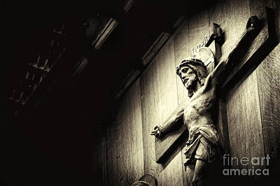 Wood Carving Photograph - Good Friday by Tim Gainey