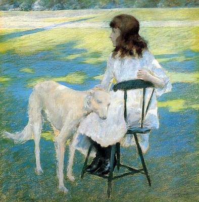 Good Dog Painting - Good Friends by William Merritt