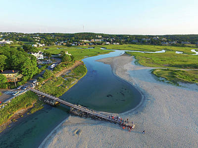 Photograph - Good Harbor Beach Footbridge Aerial Shot by Toby McGuire
