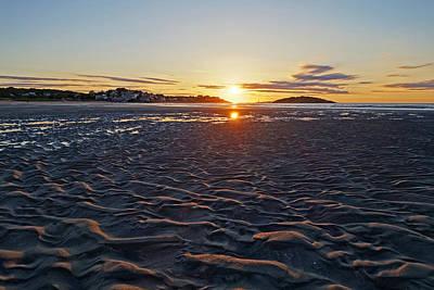 Photograph - Good Harbor Beach Sunrise Sand Texture by Toby McGuire