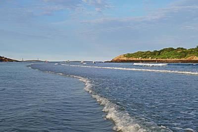 Photograph - Good Harbor Beach Thacher Island Lighthouses Gloucester Ma by Toby McGuire