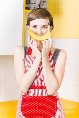 Good Health Happiness From A Fresh Fruit Smile Art Print
