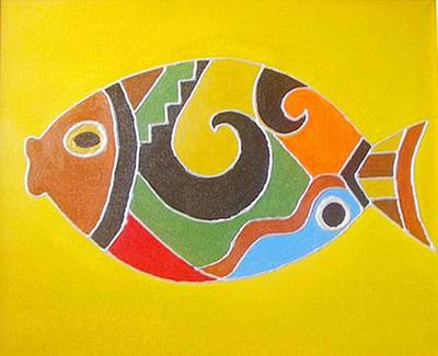 Good Luck Fish Art Print by Xafira Mendonsa