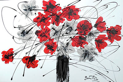 Painting - Good Luck Flowers by Leon Zernitsky