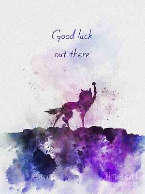 Fox Mixed Media - Good Luck Out There by Rebecca Jenkins