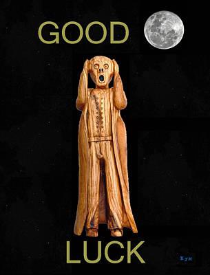 Good Luck Scream Art Print