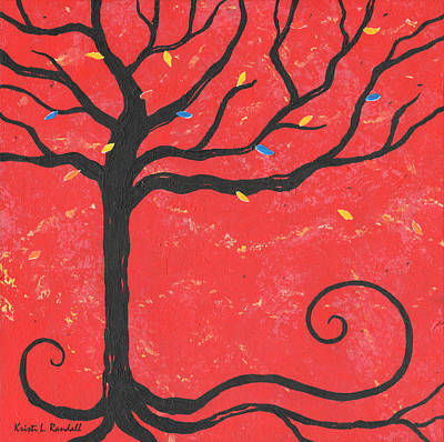 Good Luck Tree - Left Art Print by Kristi L Randall