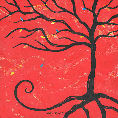 Good Luck Tree - Right Art Print by Kristi L Randall
