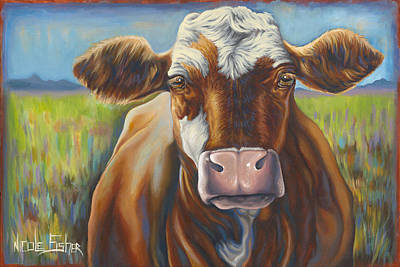Good Mooing Art Print by Nicole Fisher