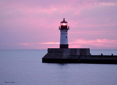 Duluth Canal Park Canal Park Lighthouse Lighthouse Lake Superior Minnesota Photograph - Good Morning by Alison Gimpel