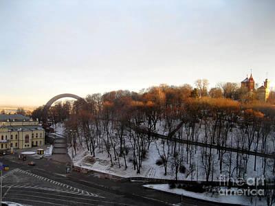 Painting - Good Morning Beautiful Kiev. Ukraine  by Oksana Semenchenko
