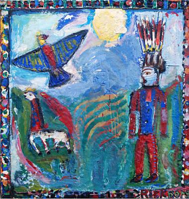 Borg Painting - good morning Bodhisattva by Rick Borg