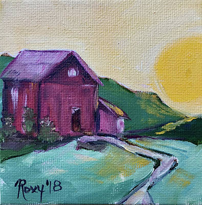 Red Painting - Good Morning Countryside by Roxy Rich