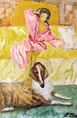 Painting - Good Morning Dogie by Mimi Eskenazi