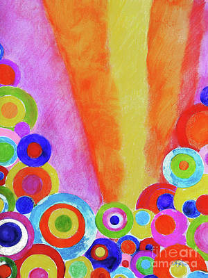 Colored Pencil Abstract Drawing - Good Morning Doodle by Cheryl Rose