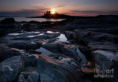 Photograph - Good Morning From New Harbor, Maine #8213-8216 by John Bald