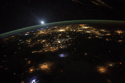 Photograph - Good Morning From The International Space Station by Artistic Panda