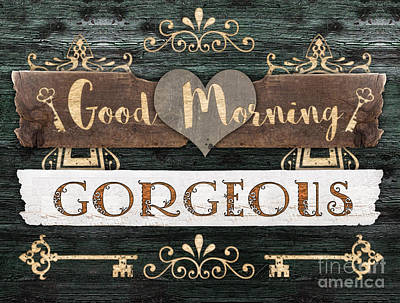 Mixed Media - Good Morning Gorgeous by Mo T
