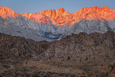 Good Morning Mount Whitney Art Print