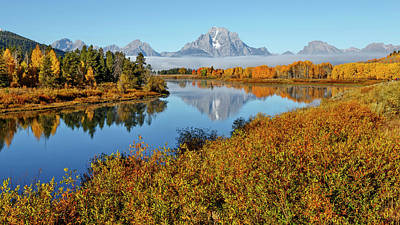 Photograph - Good Morning Oxbow Bend by Wes and Dotty Weber