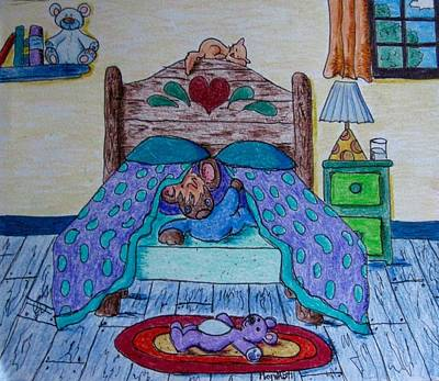 Drawing - Good Morning Peek-a-boo by Megan Walsh