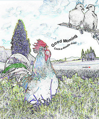 Drawing - Good Morning by Quwatha Valentine