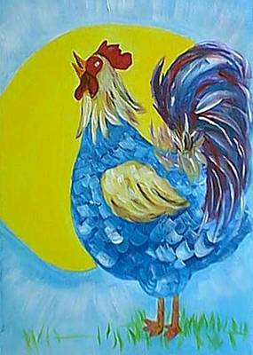 Painting - Good Morning Rooster by Christine Quimby