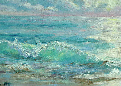 Cape Cod Painting - Good Morning Surf by Barbara Hageman