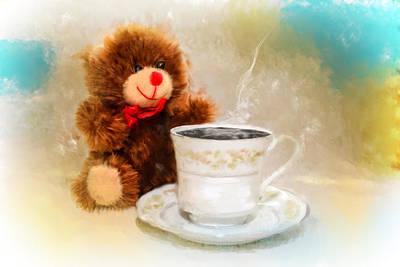 Good Morning Teddy Original by Mary Timman