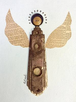 Mixed Media - Good News Angel by Carol Neal
