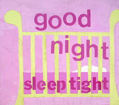 Good Night Baby Art Print by Laurie Breen