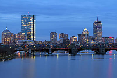 Charles River Photograph - Good Night Boston by Juergen Roth