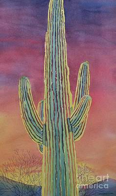 Painting - Good Night Cactus Wren by Sandra Neumann Wilderman