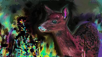 Asia Painting - Good Night Deer  by Paul Sutcliffe
