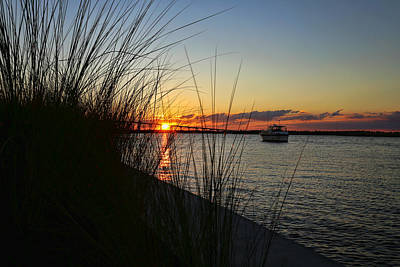 Photograph - Good Night From Lake Charles by Judy Vincent