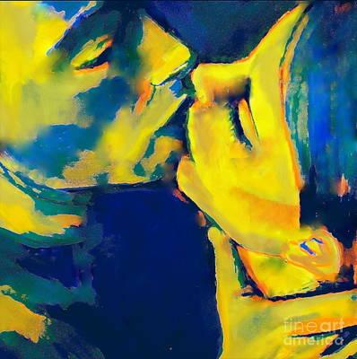 Painting - Good Night Kiss by Helena Wierzbicki