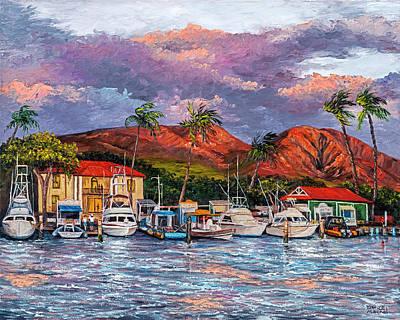 Painting - Good Night Lahaina by Darice Machel McGuire