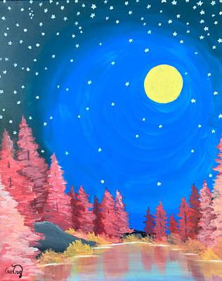 Nightsky Painting - Good Night Moon by Gwen Craig