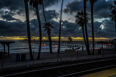 Photograph - Good Night San Clamente Pier 2 by Kenneth James