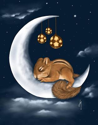 Squirrel Wall Art - Painting - Good Night by Veronica Minozzi